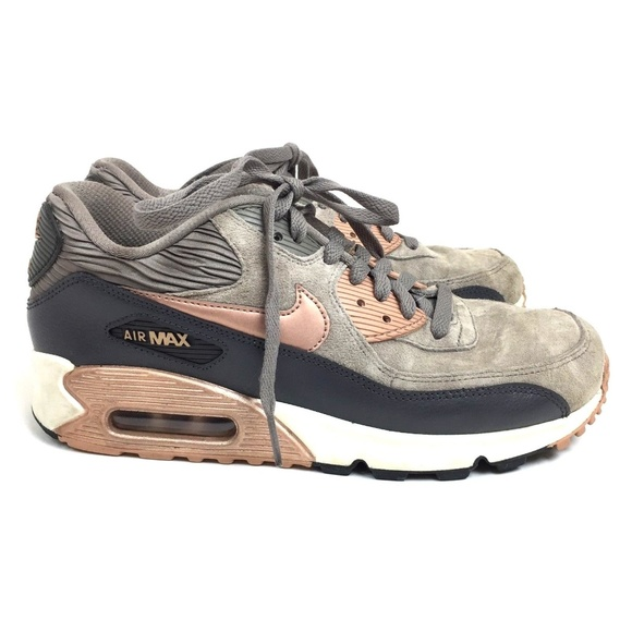 finest selection abf49 6b16a Nike Air Max 90 iron and metallic bronze leather. M 5b0f1ecf3316274fe5df946c